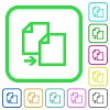 Copy item vivid colored flat icons - Copy item vivid colored flat icons in curved borders on white background