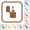 Lighter simple icons - Lighter simple icons in color rounded square frames on white background