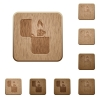 Lighter wooden buttons - Lighter on rounded square carved wooden button styles