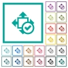 Accept size flat color icons with quadrant frames - Accept size flat color icons with quadrant frames on white background