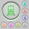 Train push buttons - Train color icons on sunk push buttons