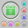 Delete schedule item push buttons - Delete schedule item color icons on sunk push buttons