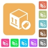 Package labeling rounded square flat icons - Package labeling flat icons on rounded square vivid color backgrounds.