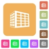 Office block rounded square flat icons - Office block flat icons on rounded square vivid color backgrounds.