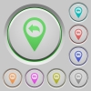 Previous GPS map location push buttons - Previous GPS map location color icons on sunk push buttons
