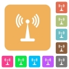 Wlan network rounded square flat icons - Wlan network flat icons on rounded square vivid color backgrounds.