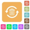 Undelete rounded square flat icons - Undelete flat icons on rounded square vivid color backgrounds.