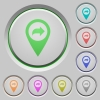 Forward GPS map location push buttons - Forward GPS map location color icons on sunk push buttons