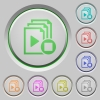 Stop playlist push buttons - Stop playlist color icons on sunk push buttons