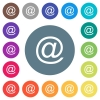 Single email symbol flat white icons on round color backgrounds - Single email symbol flat white icons on 17 round color backgrounds