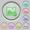 Image processing color icons on sunk push buttons - Image processing push buttons