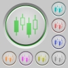 Candlestick chart push buttons - Candlestick chart color icons on sunk push buttons