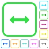 Resize horizontal vivid colored flat icons - Resize horizontal vivid colored flat icons in curved borders on white background
