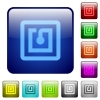 NFC sticker color square buttons - NFC sticker icons in rounded square color glossy button set