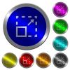 Maximize element luminous coin-like round color buttons - Maximize element icons on round luminous coin-like color steel buttons