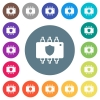 Hardware protection flat white icons on round color backgrounds - Hardware protection flat white icons on round color backgrounds. 17 background color variations are included.