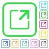Maximize window vivid colored flat icons - Maximize window vivid colored flat icons in curved borders on white background