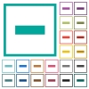 Remove item flat color icons with quadrant frames - Remove item flat color icons with quadrant frames on white background