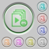 Print playlist push buttons - Print playlist color icons on sunk push buttons