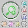 Voice search push buttons - Voice search color icons on sunk push buttons