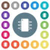 Integrated circuit flat white icons on round color backgrounds - Integrated circuit flat white icons on round color backgrounds. 17 background color variations are included.