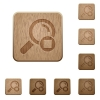 Stop search wooden buttons - Stop search on rounded square carved wooden button styles