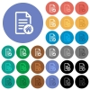 Default document round flat multi colored icons - Default document multi colored flat icons on round backgrounds. Included white, light and dark icon variations for hover and active status effects, and bonus shades on black backgounds.