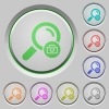 Search photo push buttons - Search photo color icons on sunk push buttons
