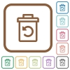 Undelete simple icons - Undelete simple icons in color rounded square frames on white background