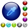 Color picker color glass buttons - Color picker icons on round color glass buttons