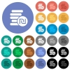 Israeli new Shekel coins round flat multi colored icons - Israeli new Shekel coins multi colored flat icons on round backgrounds. Included white, light and dark icon variations for hover and active status effects, and bonus shades on black backgounds.
