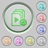 Cloud playlist push buttons - Cloud playlist color icons on sunk push buttons