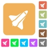 Space shuttle rounded square flat icons - Space shuttle flat icons on rounded square vivid color backgrounds.