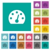 Dashboard square flat multi colored icons - Dashboard multi colored flat icons on plain square backgrounds. Included white and darker icon variations for hover or active effects.