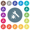 Bug fixing flat white icons on round color backgrounds. 17 background color variations are included. - Bug fixing flat white icons on round color backgrounds