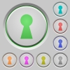 Keyhole push buttons - Keyhole color icons on sunk push buttons