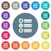 Radio group flat white icons on round color backgrounds - Radio group flat white icons on round color backgrounds. 17 background color variations are included.