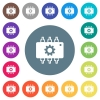 Hardware settings flat white icons on round color backgrounds - Hardware settings flat white icons on round color backgrounds. 17 background color variations are included.