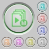 Save playlist push buttons - Save playlist color icons on sunk push buttons