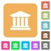 University rounded square flat icons - University flat icons on rounded square vivid color backgrounds.