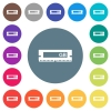 RAM memory module flat white icons on round color backgrounds. 17 background color variations are included. - RAM memory module flat white icons on round color backgrounds