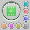Movie processing push buttons - Movie processing color icons on sunk push buttons