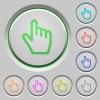 Hand cursor push buttons - Hand cursor color icons on sunk push buttons