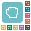 Grab cursor rounded square flat icons - Grab cursor white flat icons on color rounded square backgrounds