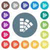 Color swatch flat white icons on round color backgrounds - Color swatch flat white icons on round color backgrounds. 17 background color variations are included.