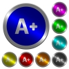 Increase font size luminous coin-like round color buttons - Increase font size icons on round luminous coin-like color steel buttons