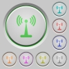 Wlan network push buttons - Wlan network color icons on sunk push buttons