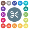 Cut out flat white icons on round color backgrounds - Cut out flat white icons on round color backgrounds. 17 background color variations are included.