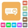 Video projector rounded square flat icons - Video projector flat icons on rounded square vivid color backgrounds.