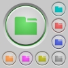 Tab folder push buttons - Tab folder color icons on sunk push buttons